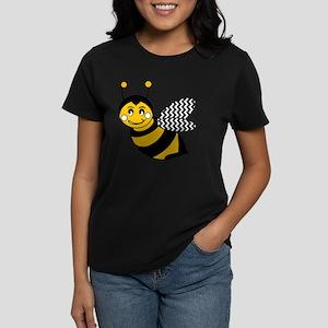 Cute Chevron Winged Bumble Be Women's Dark T-Shirt