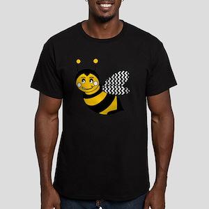 Cute Chevron Winged Bu Men's Fitted T-Shirt (dark)