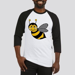 Cute Chevron Winged Bumble Bee Baseball Jersey