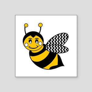 Cute Chevron Winged Bumble Bee Sticker