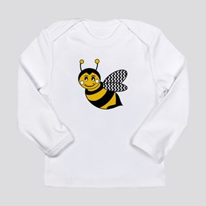 Cute Chevron Winged Bumble Bee Long Sleeve T-Shirt