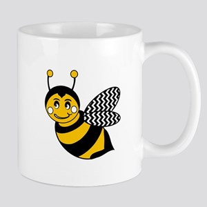 Cute Chevron Winged Bumble Bee Mugs
