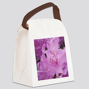 Purple Rhododendron Bush  Canvas Lunch Bag
