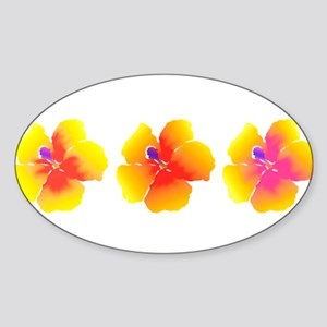 Variations on a Hibiscus Yellow & Orange Sticker