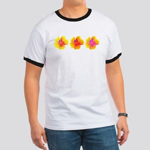 Variations on a Hibiscus Yellow & Orange T-Shirt