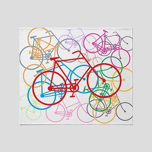 Graphic Bikes Throw Blanket
