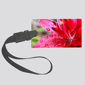 "Pink ""Lily Looks Tiny"" Lily  Large Luggage Tag"