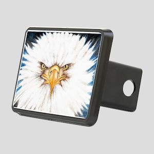 Bald Eagle Gaze Rectangular Hitch Cover