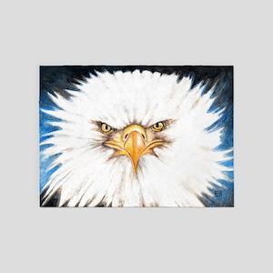 Bald Eagle Gaze 5'x7'Area Rug