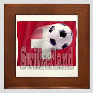 Soccer Flag Switzerland Framed Tile