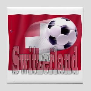 Soccer Flag Switzerland Tile Coaster