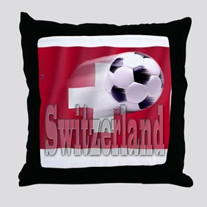 Soccer Flag Switzerland Throw Pillow
