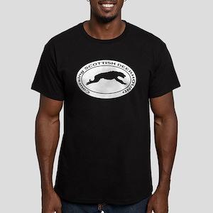 SCOTTISH DEERHOUND Cou Men's Fitted T-Shirt (dark)