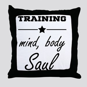 Train, mind body & soul Throw Pillow