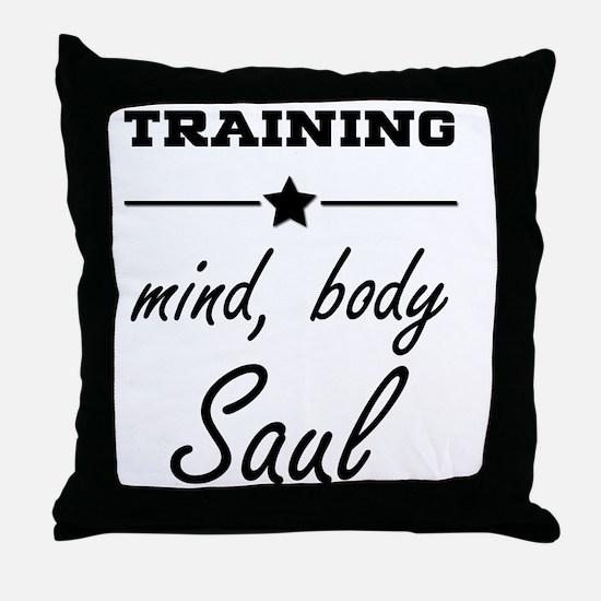 Train, mind body & soul Throw Pillow