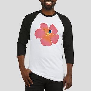 Watercolor of lush tropical hibisc Baseball Jersey
