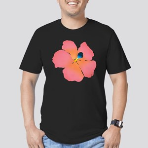 Watercolor of lush tro Men's Fitted T-Shirt (dark)