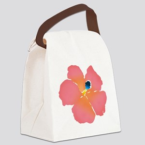 Watercolor of lush tropical hibis Canvas Lunch Bag