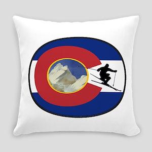 COLORADO SKI TIME Everyday Pillow
