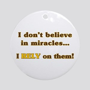 Miracle Student Ornament (Round)