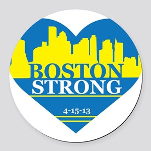 Boston Round Car Magnet