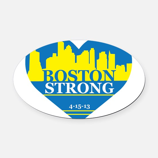 Boston Oval Car Magnet