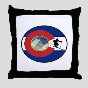 COLORADO SKI TIME Throw Pillow