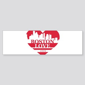 Boston Love Bumper Sticker