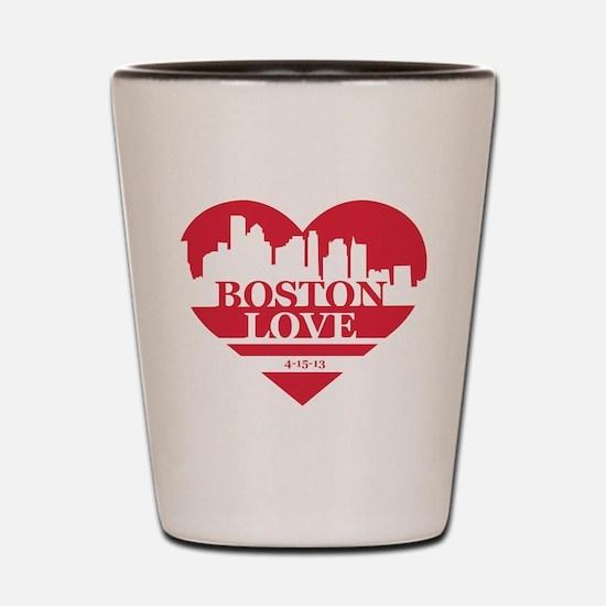 Boston Love Shot Glass