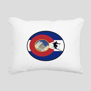 COLORADO SKI TIME Rectangular Canvas Pillow