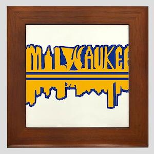 MKE Skyline Drip Yellow Framed Tile