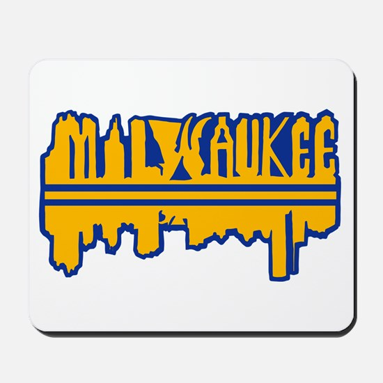 MKE Skyline Drip Yellow Mousepad