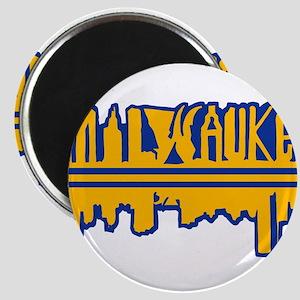 MKE Skyline Drip Yellow Magnets