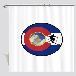 COLORADO SKI TIME Shower Curtain