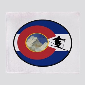 COLORADO SKI TIME Throw Blanket