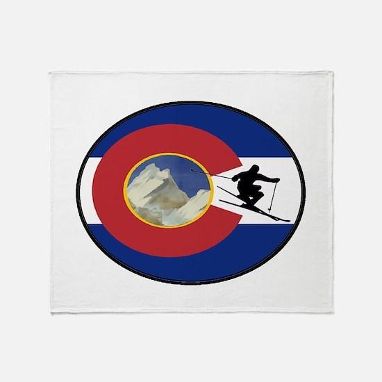 COLORADO SKI TIME Throw Blanket