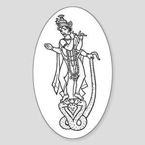 Krishna - Hindu Diety Oval Sticker
