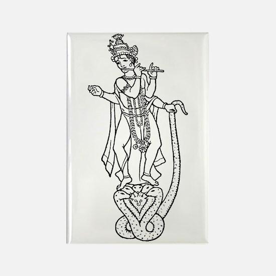 Krishna - Hindu Diety Rectangle Magnet