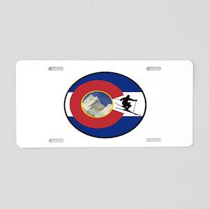 COLORADO SKI TIME Aluminum License Plate