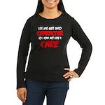 Like I Care Red-W Women's Long Sleeve Dark T-Shirt