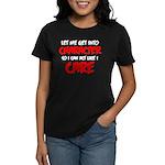 Like I Care Red-White Women's Dark T-Shirt