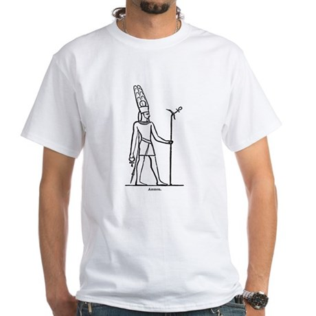 Ammon - Egyptian Diety White T-Shirt