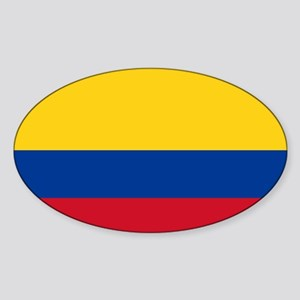Colombia Oval Sticker
