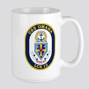 USS Omaha LCS-12 Large Mug
