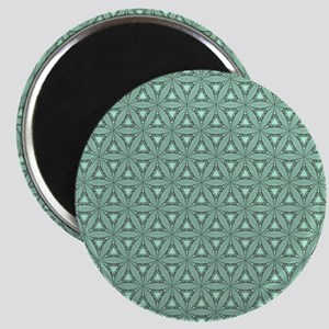Green And Black Geometric Vintage Pattern Magnets