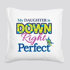 Daughter_Down_Rt_Perfect Square Canvas Pillow