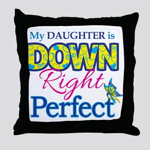 Daughter_Down_Rt_Perfect Throw Pillow