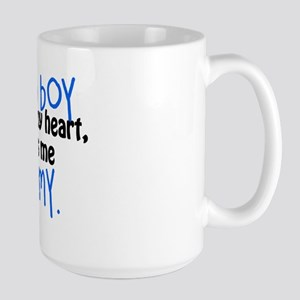I know a boy Large Mug