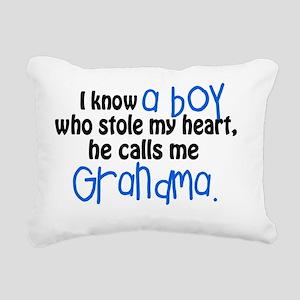 I know a boy Rectangular Canvas Pillow