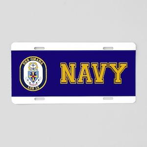 USS Omaha LCS-12 Aluminum License Plate